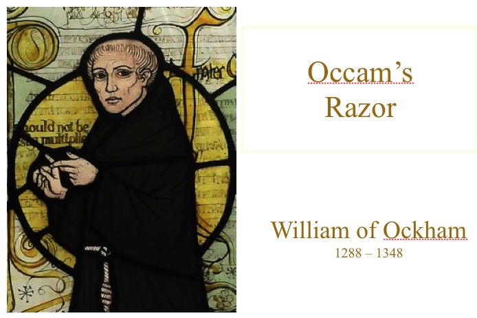 william of occam s razor the right Occam's razor - always accurate occam's razor would suggest i am right that word simplest was never used by william of ockham it's a bad attempt at.