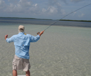 Fly-fishing for tarpon