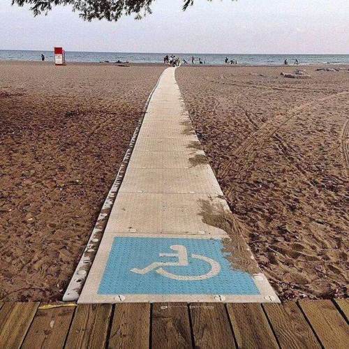 Accessable beach