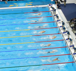 Phelps swimming